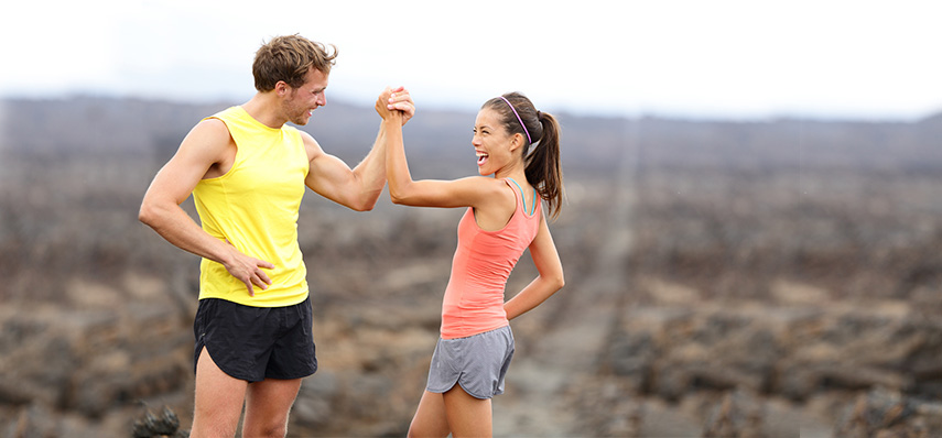 Running together towards a happy relationship